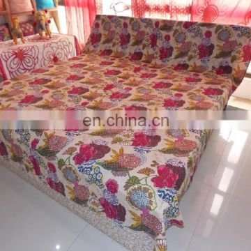 Indian Block Printed Quilt Cover Handmade Cotton Bed Cover Blanket Bedding
