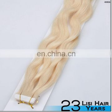 wholesale customized 100% remy european human hair seamless tape hair