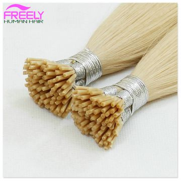20 inch 100Strands Stick Remy I-tip Human Hair Extensions Pre bonded Hair Extensions 50 Grams per strand 0.5gram