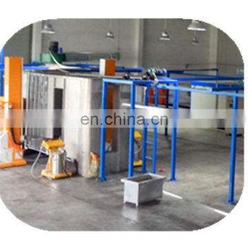 Automatic powder coating booth for aluminium profiles 7