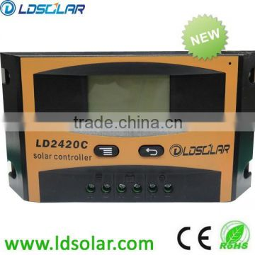 PWM 10A 12/24V auto PV solar charge controller with LCD screen