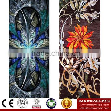 IMARK New Design Modern Pattern Mosaic Mural/Glass Mosaic Mural/Mosaic Wall Pattern For Cafe House/Hotel Wall Decoration