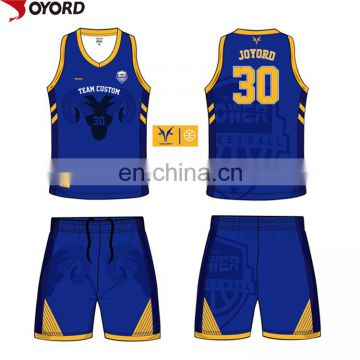 ce7690738ff ... china custom sublimation color blue red yellow basketball jersey  uniforms design ...