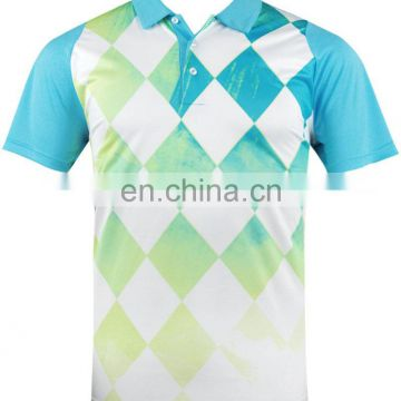 OEM dry fit polyester golf shirt, wholesale golf apparel