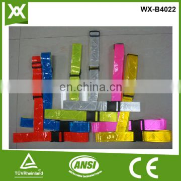 factory made /design /100%polyester fabric class2 reflective pvc tape waist belt