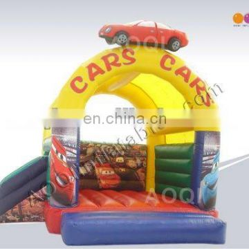 Wholesale cheap inflatable car bouncer with slide from factory for sale