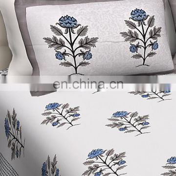 Decorative Floral Printed Double Size Bedsheet With 2 PC Pillow Cover Set Stylish Indian Bedsheet