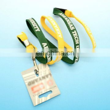 Lanyard free sample promotional safety breakaway buckles lanyard