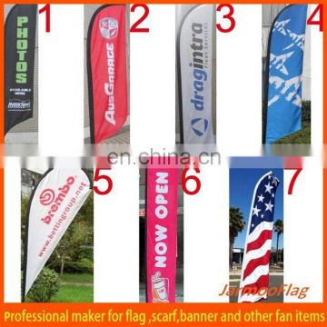 Custom Outdoor cheap advertising teardrop flag