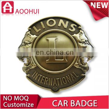 Hot zinc gold plating custom metal pin badge