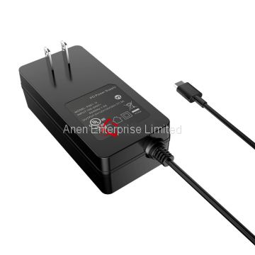 65W AC Adapter with US Plug,GS,CE, UL approval, VI Efficiency, 24V1A 12V2A 12V1.5A 24V0.8A Power Adapter