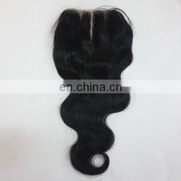 Virgin Human hair factory in Qingdao best selling 3 part silk base lace closure
