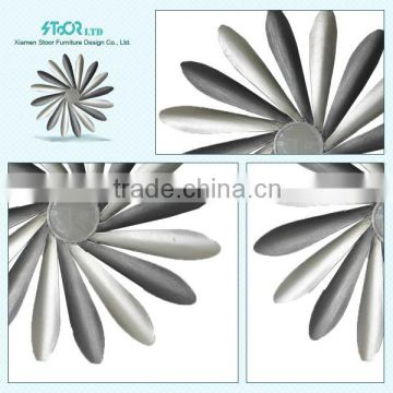 Brand New Ceramic Flower Wrought Iron Wall Decor