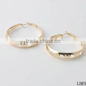 fashion hollow heart wide hoop earring