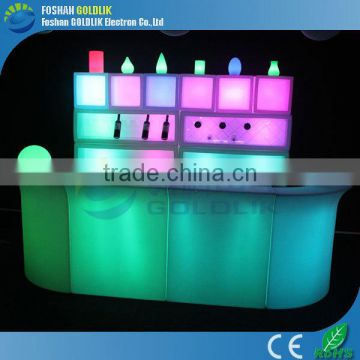 Straight LED bar counter set GLACS/Music/Linght control