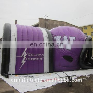 hot sale promotion oxford purple giant inflatable football helmet sports tunnel