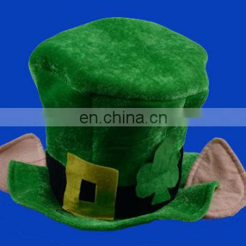 cheap green irish festival hat with green marabou brim