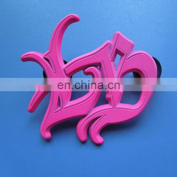 hollow pink creative custom logo promotion and decoration metal badge