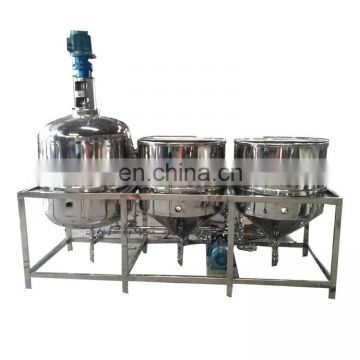 full stainless steel crude oil refinery machine mini soya oil refinery plant small scale edible oil refinery machine