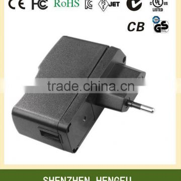 AUS EU USA UK Korean Plug 5V 1A USB Power Adapter