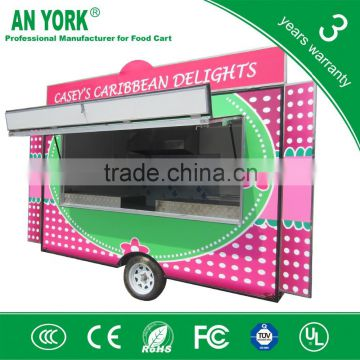 2015 HOT SALES BEST QUALITY twin in axle food cart double axle food cart single axle food cart