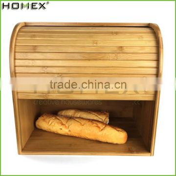 Kitchenware bamboo fiber bread box Homex-BSCI