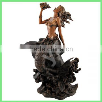garden decoration cast copper beautiful mermaid fountain for sale