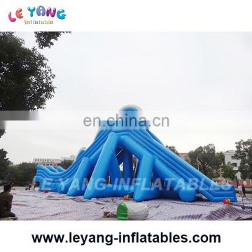 Double row Giant wave slide / Amusement water Park Inflatable slide