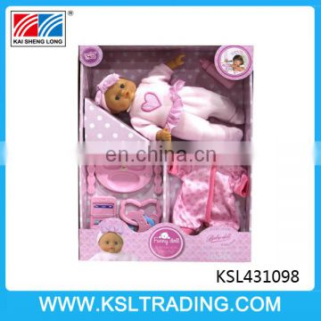 high quality 12 inch cotton sucking baby doll with IC for sale