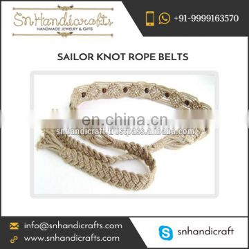 Supreme Quality Made Braided Rope Belt for Women at Wholesale Price