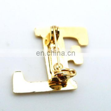 30mm 3cm 3D ANTIQUE GOLD Wreath Lapel Pin Safety Pin
