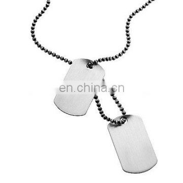 Blank military dog tags with ballchain