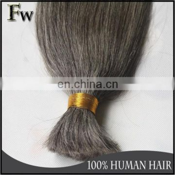 Alibaba best selling products extension hair big stock grey human hair weaving