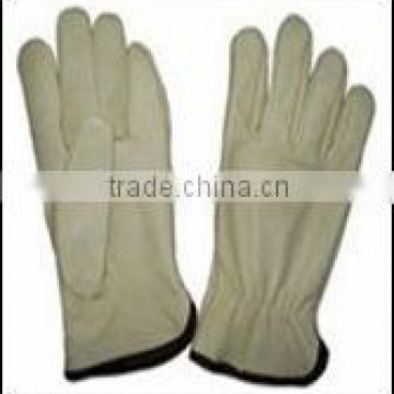 "10.5"" Cow Split Leather full palm safety Working Gloves/ cow grain leather driver glove/ cow leather protective handware"