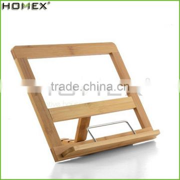 Bamboo cook book reading stand for kitchen Homex-BSCI