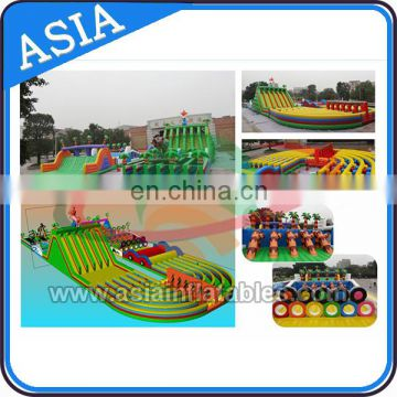 Outdoor Fun Easy Jumper Team Adult Inflatable Obstacle Course , Workout Obstacle Game