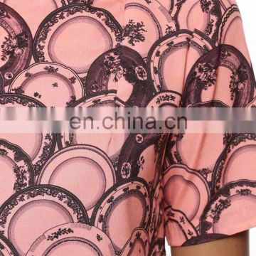 Ceramic Scales Print Overlay Jumpsuit for women