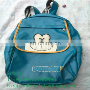 used leather handbag and school bags manufactory in china factory of used clothing