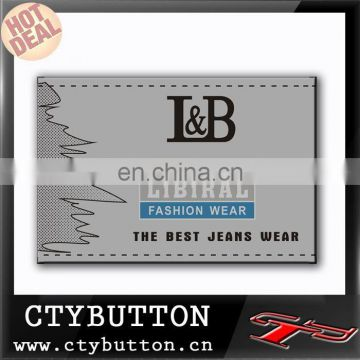 L&B the best jeans wear fake leather label factory gold supplier good service