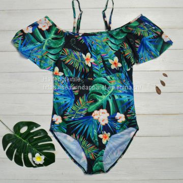 Manufacturer Prices Custom Design Beachwear Girls Bathing Suits One Piece Swimwear
