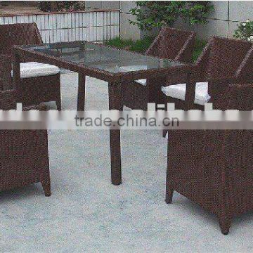 rattan leisure chair and table -best selling garden set