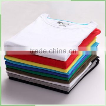 wholesale high quality plain blank 100% cotton white t shirts for men short sleeve Customized printed mens t shirt manufacture