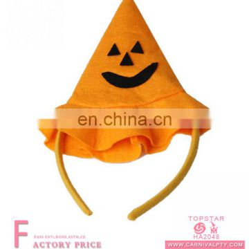 Pimpkin face pattern plush halloween party accessories headdress