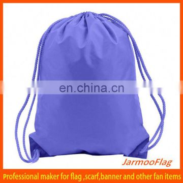 customized fabric see through drawstring bags