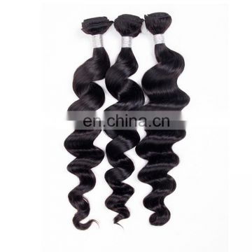 Wholesale natural raw virgin indian human hair loose wave