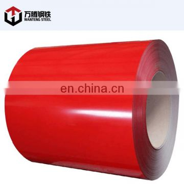 0.8mm thickness red color PPGI for making roof tile