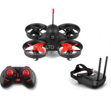 Mini Drone with Camera, FPV RC Aircraft with VR-009 Video Headset 5.8G 40CH HD 3inch 16:9 Display FPV VR Goggles Equipped