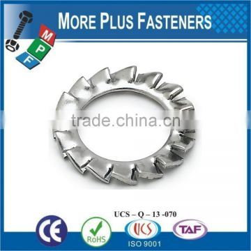 Made in Taiwan Stainless Steel External Tooth Lock Washer
