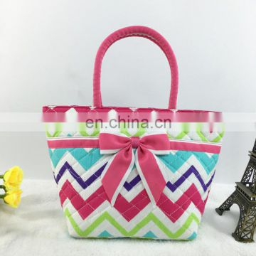 New arrival cotton handbag with bowknot