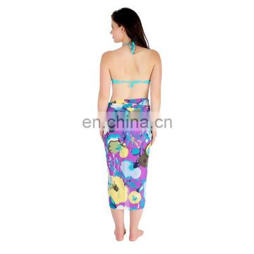 Multicolour Tropical Floral Print Sarong